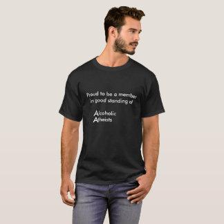 無神論的なアルコール中毒患者 Tシャツ