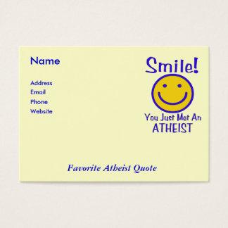 無神論的なスマイリー チャビ―名刺