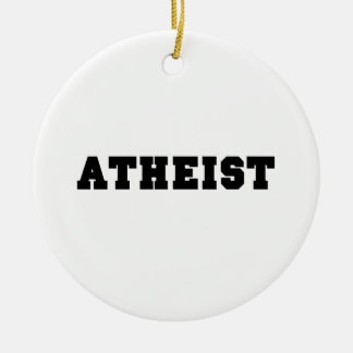 無神論的な大学のロゴ セラミックオーナメント