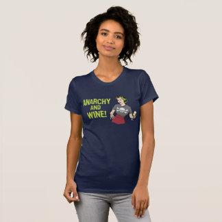無秩序およびワイン Tシャツ
