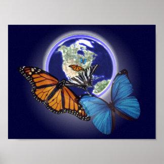 無秩序および蝶 ポスター