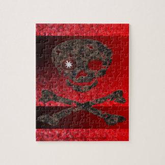 無秩序の赤い目のスカル ジグソーパズル