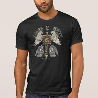 無秩序はskully順序背部が付いているバランスです tシャツ