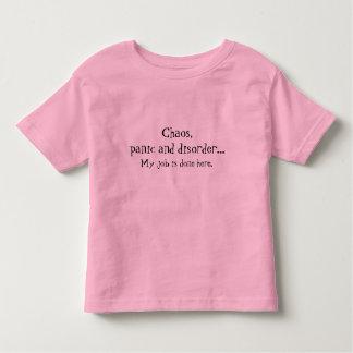 無秩序、Tシャツを言うパニック トドラーTシャツ