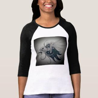 無線の不安定な鳥の頭部 Tシャツ