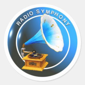 無線の交響曲のステッカー ラウンドシール