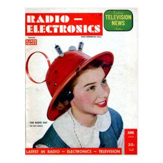無線の帽子 ポストカード