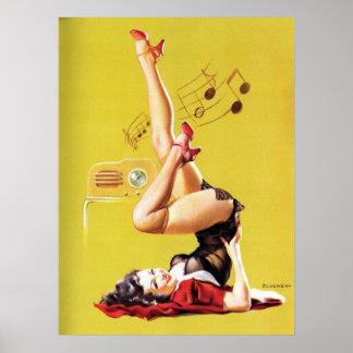 無線の演劇のヴィンテージPin ポスター