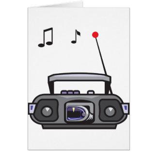 無線の遊ぶ音楽メッセージカード カード