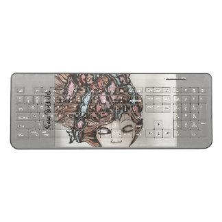 無線キーボードの灰色 ワイヤレスキーボード