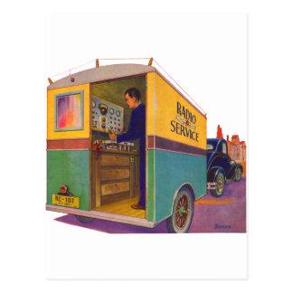 無線サービストラック ポストカード
