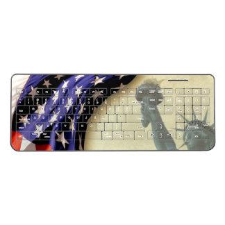 無線電信のキーボード米国旗の自由の女神 ワイヤレスキーボード