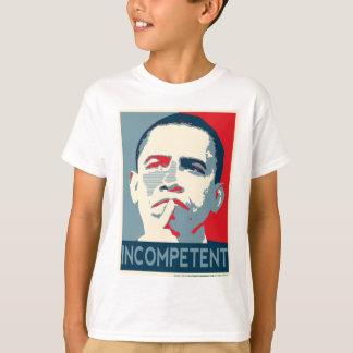 無能なバラック・オバマ- Tシャツ