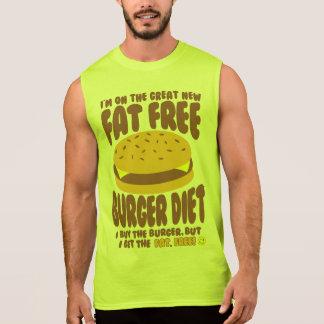 無脂肪のハンバーガーのダイエット 袖なしシャツ