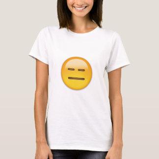 無表情な顔Emoji Tシャツ