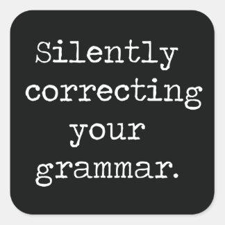 無言であなたの文法ボタンを訂正すること スクエアシール