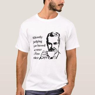 無言で判断すること Tシャツ