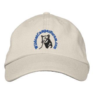 無謀で青いロゴの帽子 刺繍入りキャップ