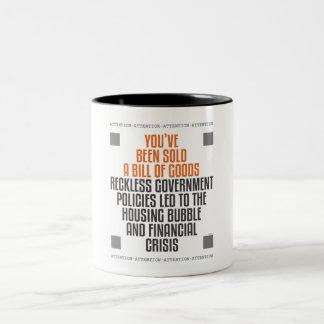 無謀な政府の方針 ツートーンマグカップ