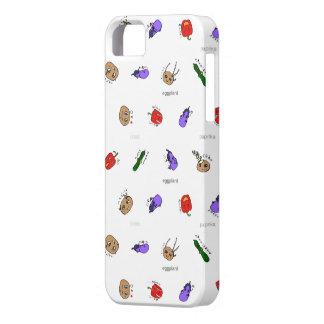 無農薬家族の茄子、じゃがいも、きゅうり、パプリカ vegitable characters iPhone SE/5/5s ケース