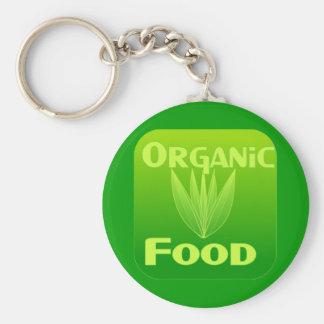 無農薬食品のkeychainを育てて下さい、食べて下さい、買って下さい キーホルダー