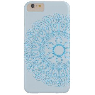 無限の円および形の青いパターン BARELY THERE iPhone 6 PLUS ケース