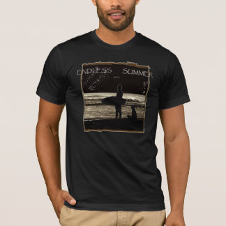 無限の夏のサーフィン Tシャツ