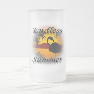 無限の夏の黒 フロストグラスビールジョッキ