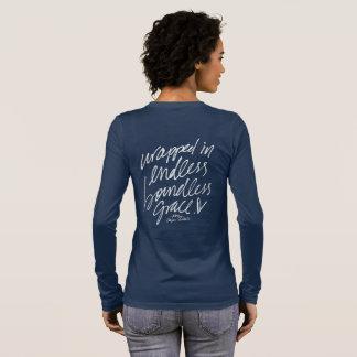 無限の無限の優美Longsleeveで包まれた 長袖Tシャツ
