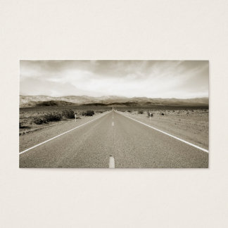 無限の砂漠の道 名刺