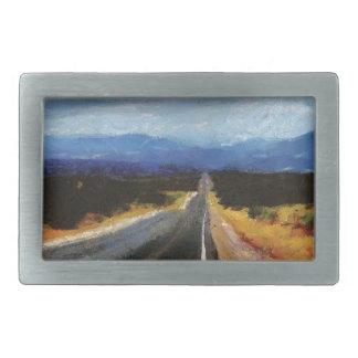 無限の道-ニューメキシコ。 長方形ベルトバックル