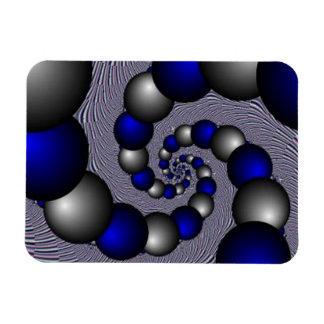 無限への銀製および青い真珠 マグネット