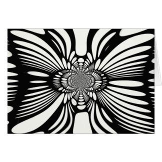 無限抽象的な白黒錯覚カード カード