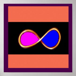 無限本当愛宇宙の数学科学の自然のおもしろい ポスター