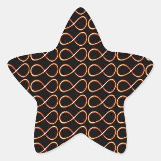 無限黒および金ゴールドの装飾的で写実的なギフト 星シール