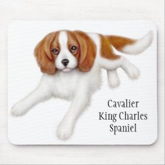 無頓着なチャールズ王スパニエル犬のマウスパッド マウスパッド