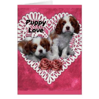 無頓着なチャールズ王スパニエル犬の初恋 カード