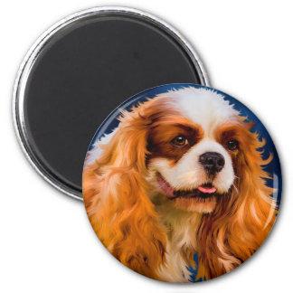 無頓着なチャールズ王スパニエル犬犬の芸術-チェルシー マグネット