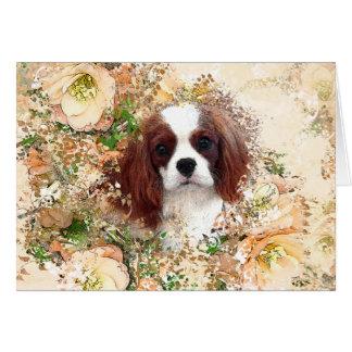 無頓着なチャールズ王スパニエル犬 カード