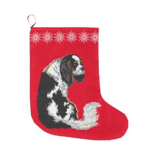 無頓着なチャールズ王スパニエル犬 ラージクリスマスストッキング