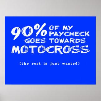 無駄にされたお金の土のバイクのモトクロスポスター ポスター