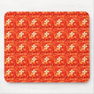 焦れったい蜜柑のオレンジの花の自然の植物相 マウスパッド