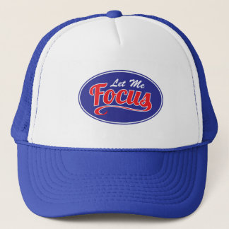 焦点の生産性の青いトラック運転手の帽子 キャップ
