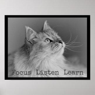 焦点は学びます教室ポスターを聞きます ポスター