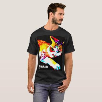 焦点猫の人のワイシャツ Tシャツ