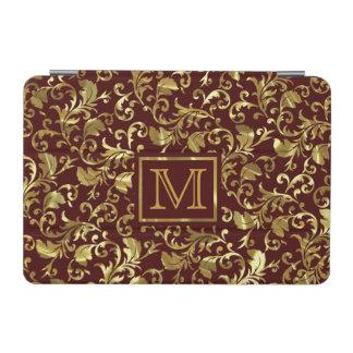 焦茶および金ゴールドのヴィンテージのダマスク織 iPad MINIカバー