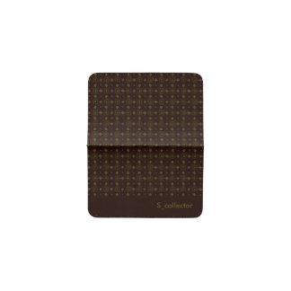 焦茶の幾何学的なパターン名刺の箱 名刺入れ