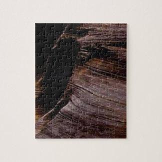 焦茶の石の折目 ジグソーパズル