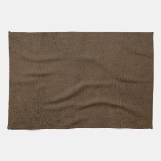 焦茶の革質パターン背景 キッチンタオル