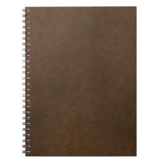焦茶の革質パターン背景 ノートブック